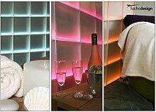 beleuchtetes Ambiente / Wand für Bar Bistro Restaurant Wohlfühl-Bereich