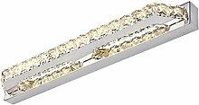 Beleuchtung Crystal LED Edelstahl Spiegel Scheinwerfer Schlafzimmer Toiletten Badezimmer Spiegel Lampe ( Farbe : Weiß-Champagner-10w-(40CM) )