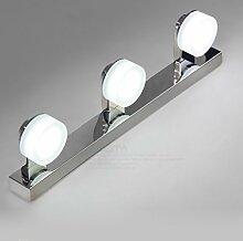 Beleuchtung Edelstahl LED Spiegel Frontleuchten, Badleuchten Anti-Fog Feuchtigkeitsbeständige Leuchten, Make-up Lights ( Farbe : Warmweiß-9w46cm )