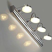 Beleuchtung Edelstahl-Spiegel-Lampe, Badezimmer-Wand-Lampe Schreibtisch-Lampe ( Farbe : Gelbes Licht-12w59cm )