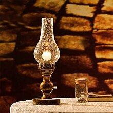 Beleuchtung Europäische Retro Hochzeit Tischlampe idyllisch Nostalgie Petroleumlampe Dimmer Nachttischlampe Schlafzimmerdekoration Ideen