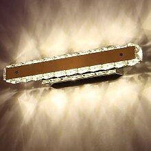 Beleuchtung Led Crystal Mirror Front Light Edelstahl wasserdicht Anti-Fog Badezimmer Badezimmer Spiegel Front Light ( Farbe : Warmes Licht-50 cm )