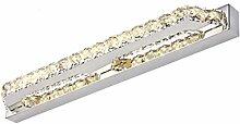 Beleuchtung LED energiesparende Edelstahl Spiegel Scheinwerfer, Schlafzimmer Badezimmer Spiegel Beleuchtung K9 Kristall ( Farbe : A warm light-26W/95CM )