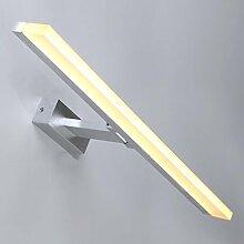Beleuchtung LED-Spiegel-Licht Minimalistische Toilette Badezimmer-Eitelkeitsspiegel-Spiegel-Verfassungs-Spiegel-Kabinett-Licht ( Farbe : Warmes Licht-100*5.5*1CM )