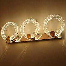 Beleuchtung Led Spiegel Scheinwerfer, Badezimmer Badezimmer Kristall Spiegel Einfache wasserdichte Edelstahl Spiegel Schrank Lichter Make-up Lichter ( größe : 53cm )