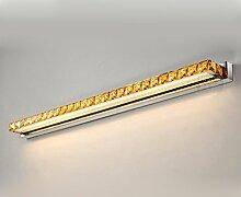 Beleuchtung Led Spiegel Scheinwerfer, Kristall Spiegelleuchten Badezimmer WC Wasserdichte Edelstahl Wandleuchte ( Farbe : Warmweiß-9w56cm )