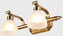 Beleuchtung Led Spiegel Scheinwerfer, Retro Badezimmer Badezimmer Spiegel Licht Spiegel Schrank Lichter ( Farbe : Warmweiß-42cm )