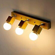Beleuchtung Massivholz Spiegel Vorne Lichter, Einfache Wohnzimmer Wandleuchten Creative Nachttisch Led Led Woody Light, E27 ( größe : 54*15cm )