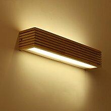 Beleuchtung Massivholz-Wandleuchte, Massivholz-Spiegel-Frontleuchten, wasserdichtes Holz ( größe : 16w55cm )