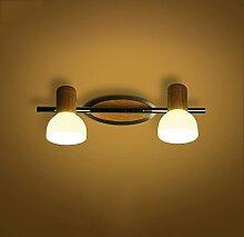 Beleuchtung Massivholz-Wandleuchte, Massivholz-Spiegel-Frontleuchten, wasserdichtes Holz ( größe : 4w37cm-A )