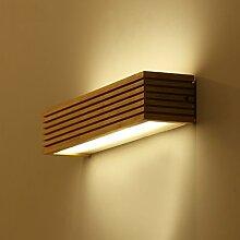 Beleuchtung Massivholz-Wandleuchte, Massivholz-Spiegel-Frontleuchten, wasserdichtes Holz ( größe : 12w35cm )