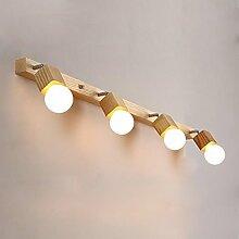Beleuchtung Spiegel Vorderseite Licht Einfache Badezimmer Spiegel Licht Bad Wand Lampe Make-up Lichter Led Spiegel Schrank Lichter Massivholz Kleider Tischlampe ( größe : 100*6*24CM )