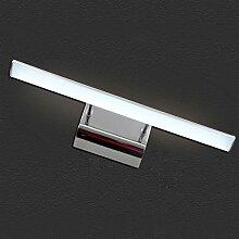 Beleuchtung Spiegel-Vorderseiten-Lichter, Badezimmer, LED-Spiegel-Kabinett-Lichter, Verfassungs-Spiegel - Toiletten - wasserdichter Nebel ( Farbe : Weißes Licht-9w/57cm )