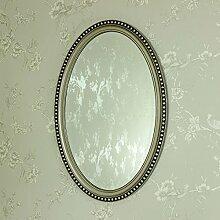 Belfortfrance.kgm Range Wandspiegel, Oval, Creme