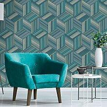 Belgravia Blaugrünes Blau Geometrische Tapete