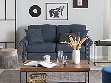 Beliani 2-Sitzer Sofa gepolstert dunkelgrau Otra