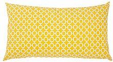 Beliani Gartenkissen gelbes Muster 40 x 70 cm