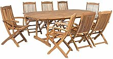 Beliani Gartenmöbel Set Holz 8-Sitzer Maui