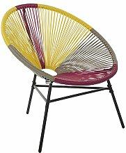Beliani Gartenstuhl mexikanischer Stuhl rosa gelb