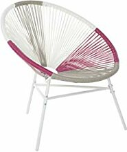 Beliani Gartenstuhl mexikanischer Stuhl weiß