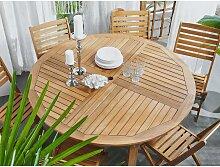 Beliani - Gartentisch Akazienholz rund mit