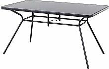 Beliani Gartentisch Stahl schwarz 140 x 80 cm LIVO