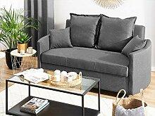 Beliani Graues 2-Sitzer Sofa mit moderner Optik