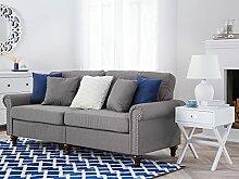 Beliani Klassisches Sofa 3er Sitzer Polsterbezug 2