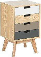 Beliani - Kommode mehrfarbig/heller Holzfarbton