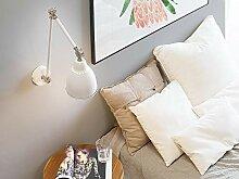 Beliani Moderne Hängeleuchte Metall weiß/silbern