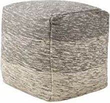 Beliani Pouf Sitzpouf Fußstütze Baumwolle