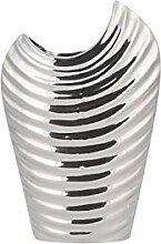 Beliani Prächtige Vase in Silber-Optik silbern