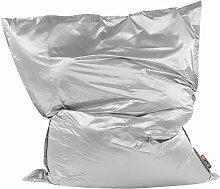 Beliani - Sitzsack Silber 180 x 230 cm Indoor