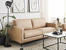 Beliani Sofa 3-Sitzer Lederoptik modernes