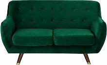 Beliani - Sofa Dunkelgrün Samtstoff 2-Sitzer