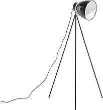 Beliani - Stehlampe Schwarz Metall 128 cm