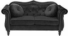 Beliani Stilvolles und Elegantes 2-Sitzer Sofa in