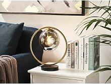 Beliani - Tischlampe Gold / Schwarz Metall 35 cm
