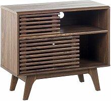 Beliani - TV Möbel Braun dunkler Holzfarbton mit