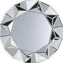 Beliani - Wandspiegel Silber ø 70 cm MDF Platte