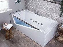 Beliani Whirlpool-Badewanne Modern mit Handbrause