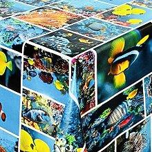 Belito Blau Wachstischdecke Fish Aquarium Blau
