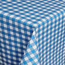 Belito Blau Wachstischdecke Kariert Blau