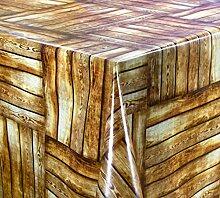 Belito Braun Wachstischdecke Holzoptik Braun