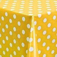 Belito Gelb Wachstischdecke Punkte Gelb
