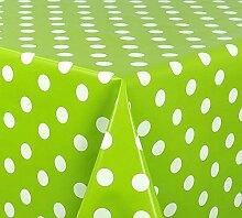 Belito Lind Grün Wachstischdecke Punkte Lind