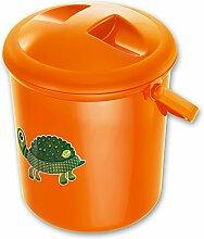 Bella Bambina Kindertopf - Windeleimer - Badewanne mit Modellauswahl (Windeleimer, Mandarine Schildkröte)