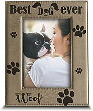 BELLA BUSTA Best Dog Ever-Gravur Leder Bild