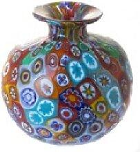 Bella Carina Tischvase Vase aus echtem Millefiori