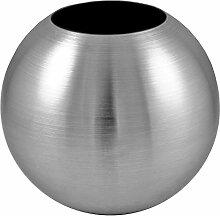 bella casa Blumenvase Kugel 15cm Gross Silber